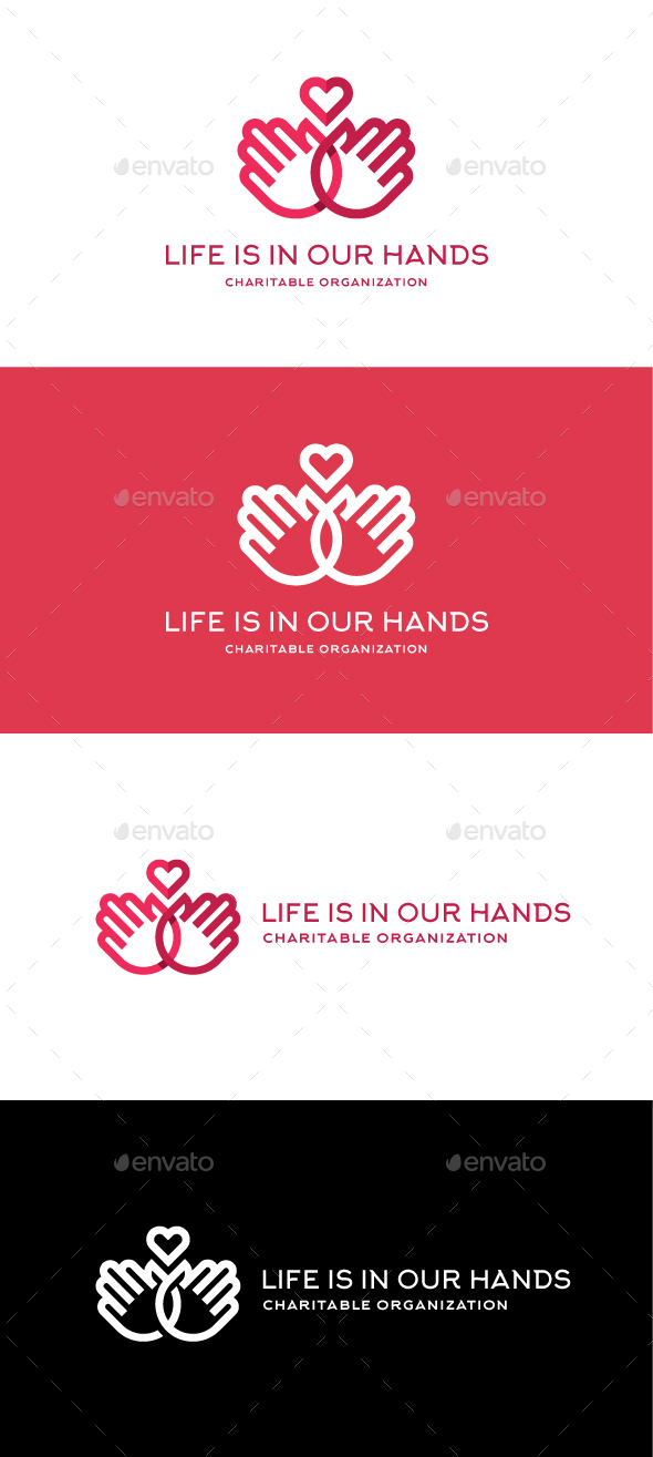 Life is in our hands - Vector Abstract