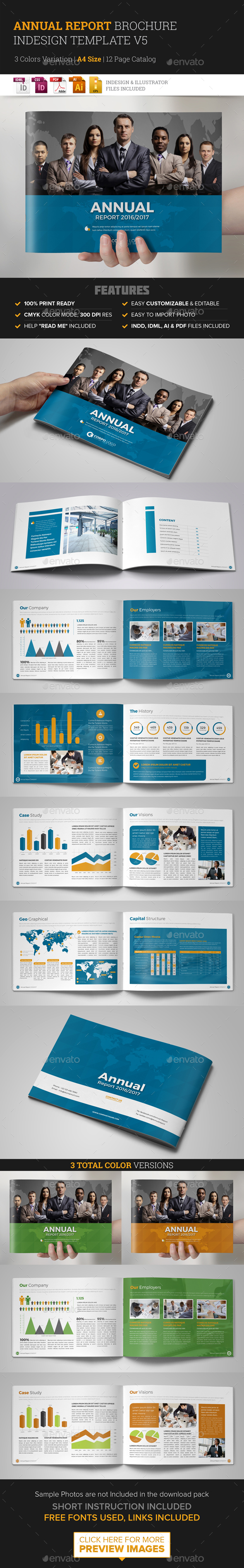 Annual Report Brochure Indesign Template 5  - Corporate Brochures