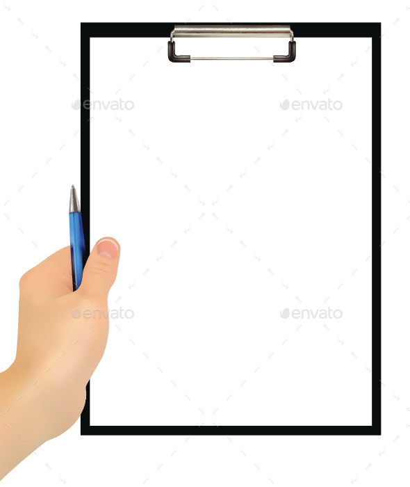 Hand Holding Clipboard - Concepts Business