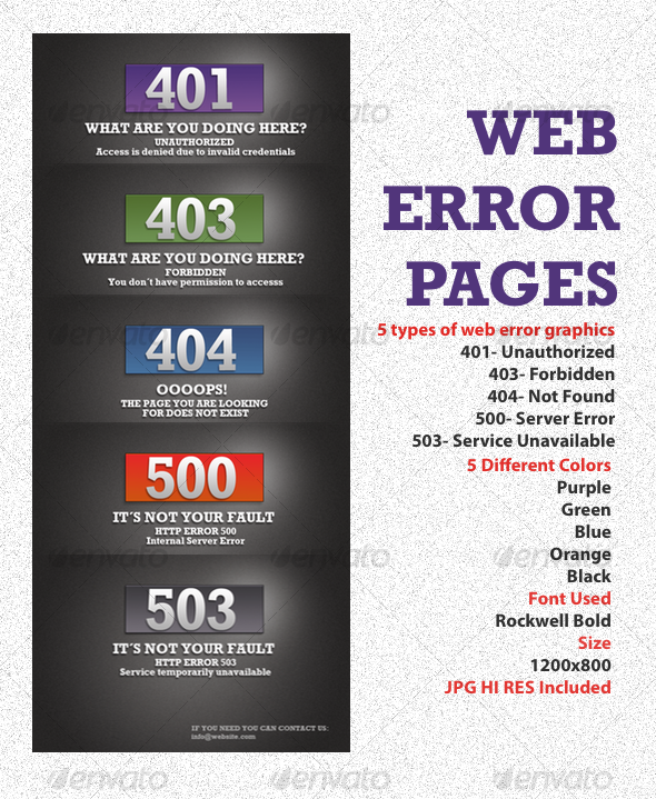 Box Web Error Graphics - Web Elements