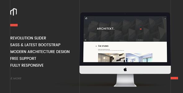 ARCHITEKT – Architecture Bootstrap Template