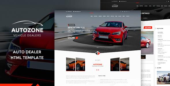 autozone car dealer html theme by pixity themeforest