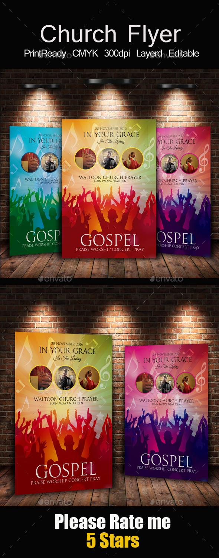 Gospel Flyer Template - Church Flyers