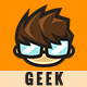 Geek Cartoon Logo - Tommy - GraphicRiver Item for Sale