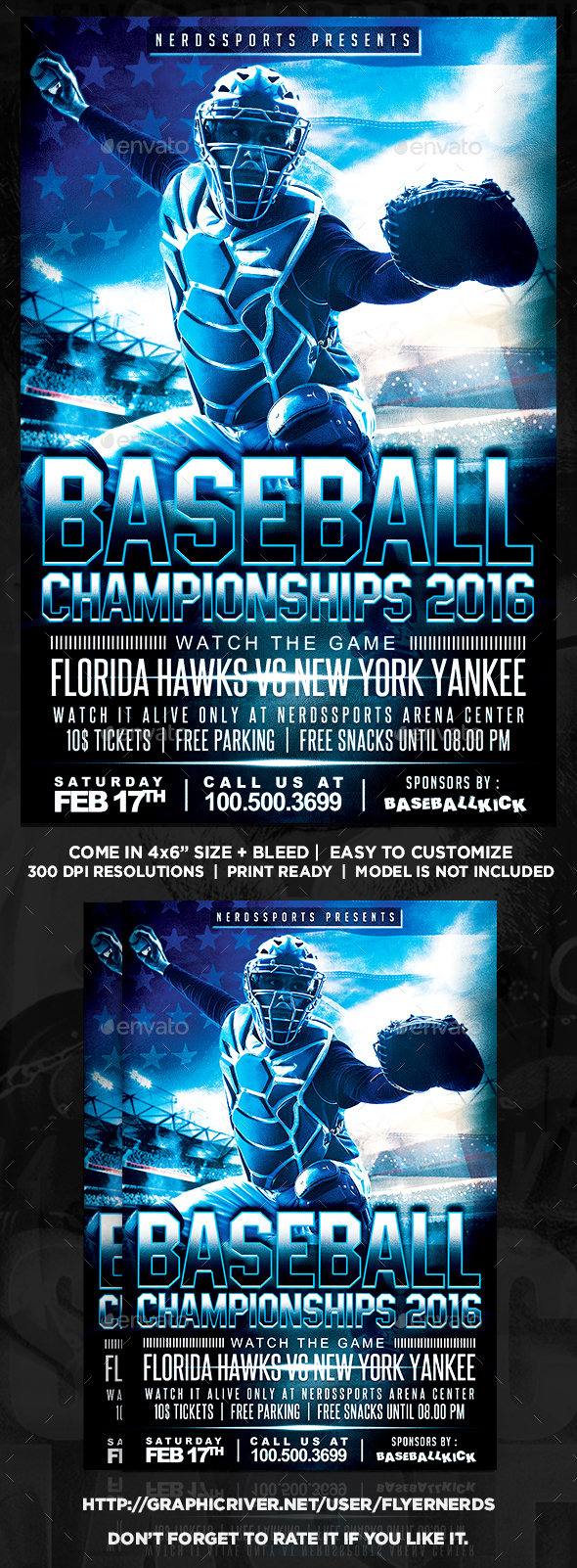 Baseball Championships 2016 Sports Flyer - Sports Events