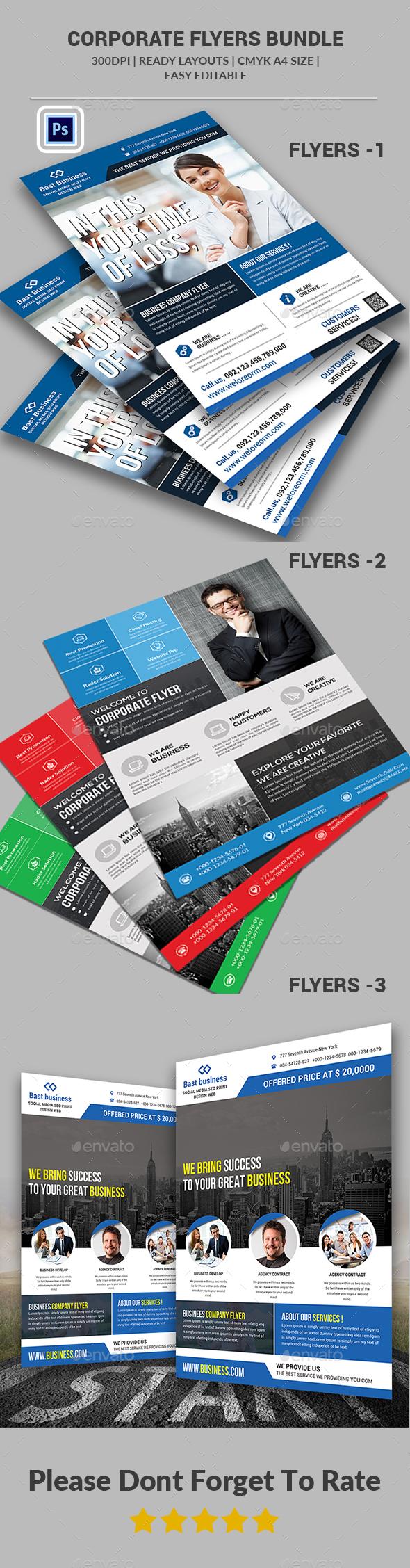 Business Flyers Bundle Templates - Corporate Flyers
