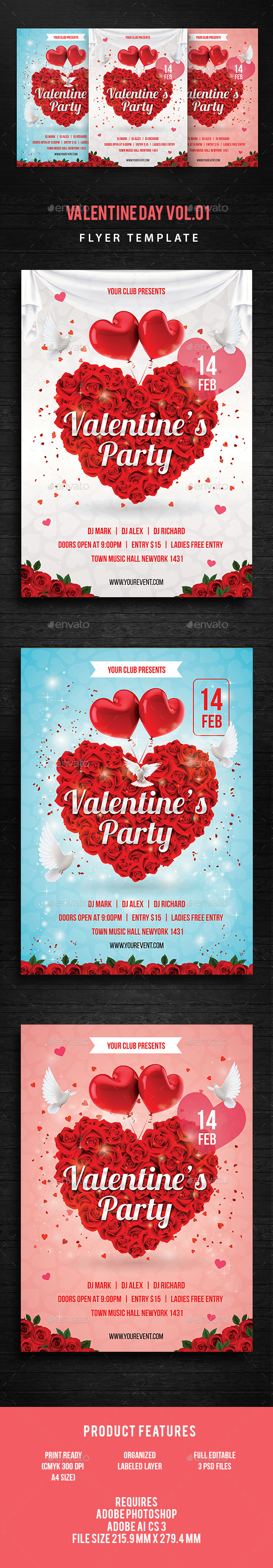 Valentine Day Party Flyer - Events Flyers
