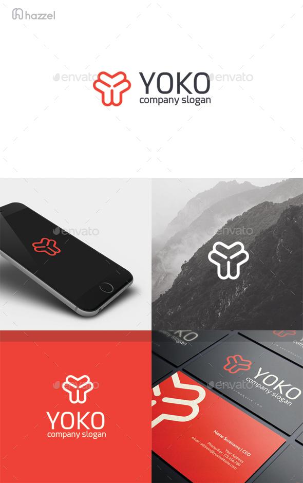 Yoko - Letter Y Logo - Letters Logo Templates