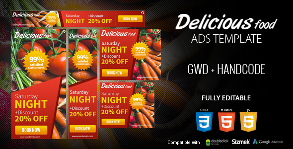 Delicious Food Ads Template - CodeCanyon Item for Sale