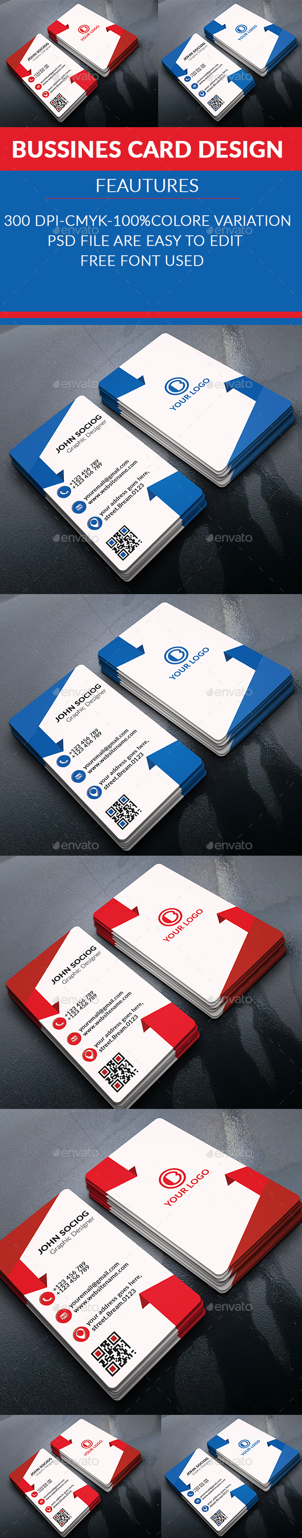 Corporate Business Cards - Business Cards Print Templates