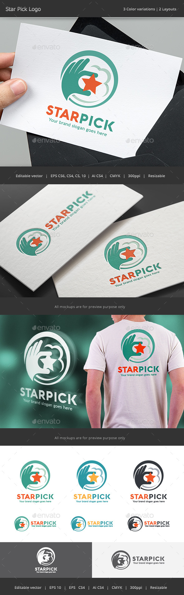 Star Pick Logo - Vector Abstract