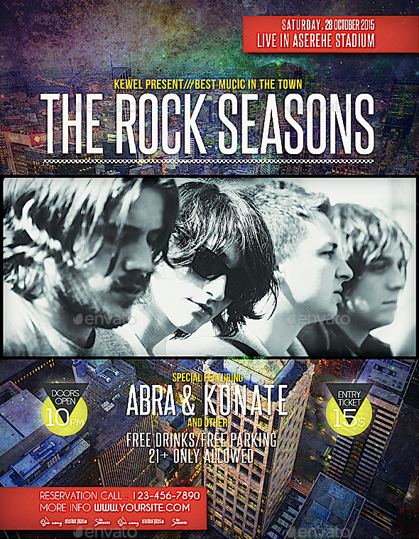 Music Rock Seasons Flyer / Templates - Events Flyers