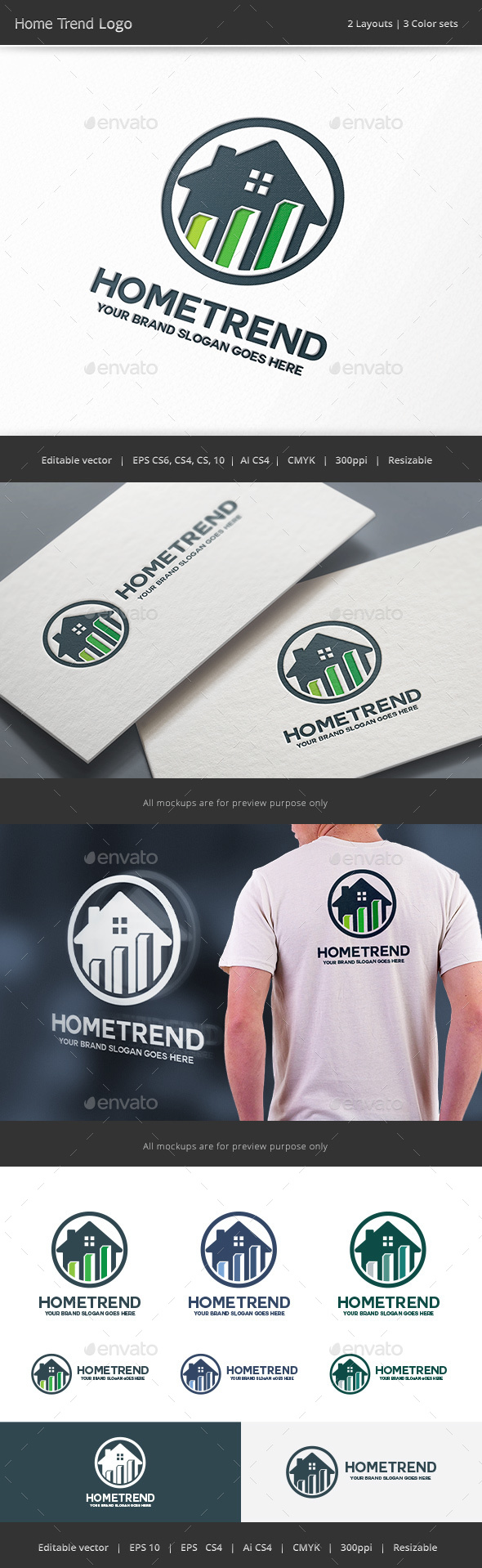 Home Trend Logo - Vector Abstract