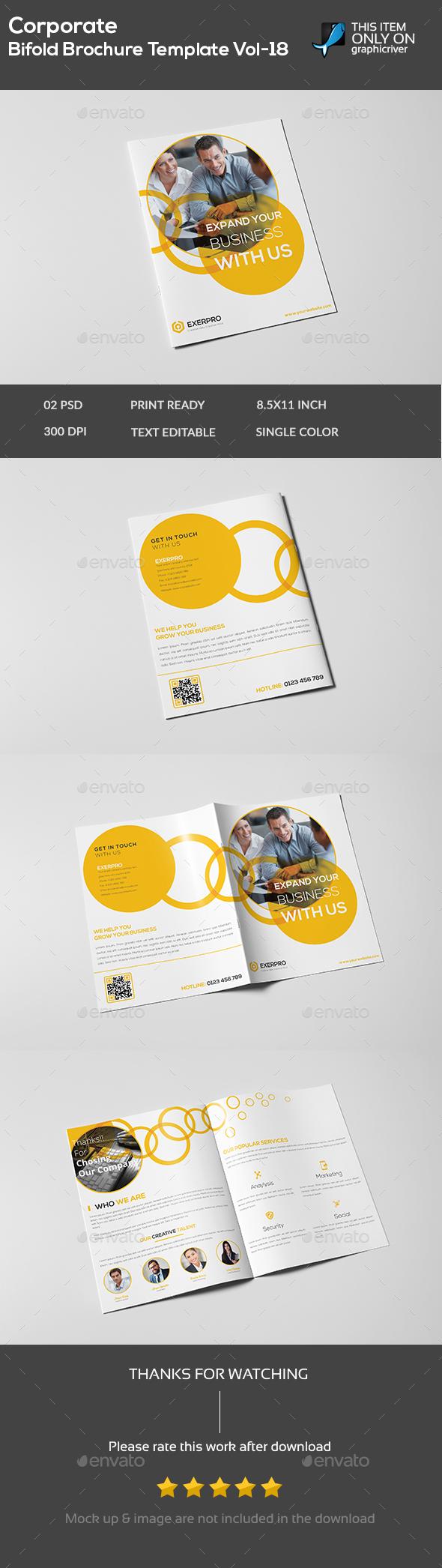 Corporate Bifold Brochure Template Vol-18 - Brochures Print Templates