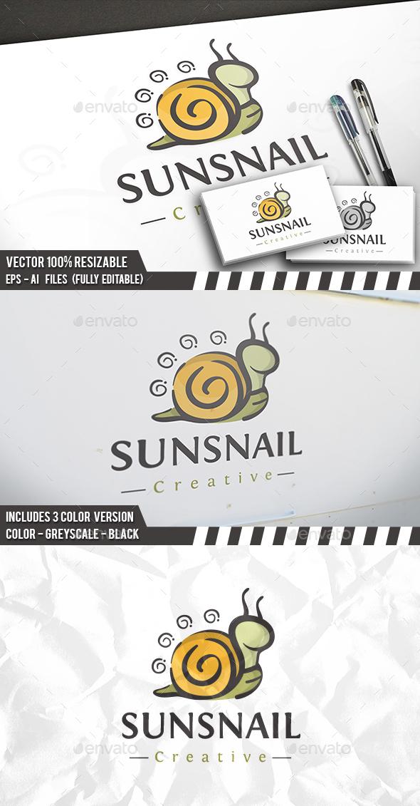 Snail Illustrative Logo - Animals Logo Templates