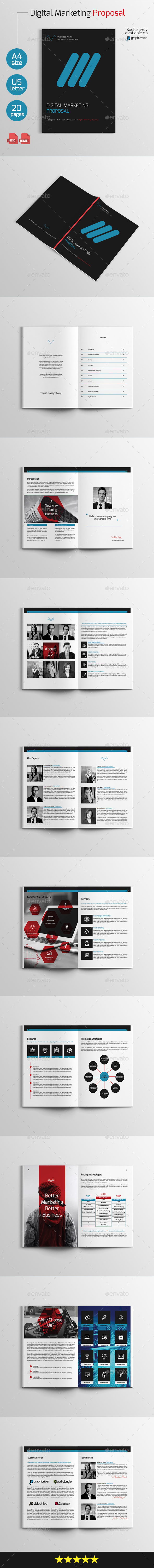 Digital Marketing Proposal - Proposals & Invoices Stationery