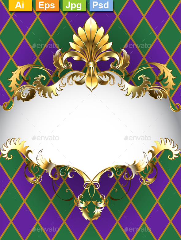 Luxury Banner Mardi Gras - Miscellaneous Seasons/Holidays