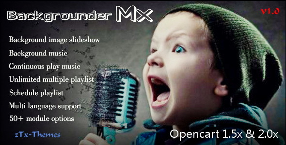 Backgrounder Mx Pro - All-in-One Music & Slideshow Solution - CodeCanyon Item for Sale
