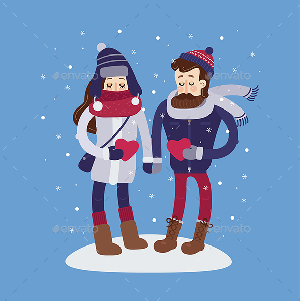 Boy and Girl Valentines Dating - Miscellaneous Seasons/Holidays