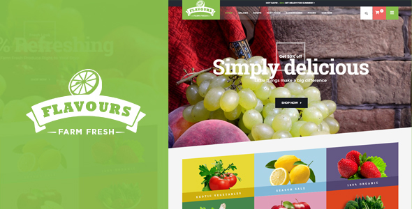 Flavours – Responsive Magento Theme