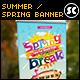 Summer / Spring Break Banner - GraphicRiver Item for Sale