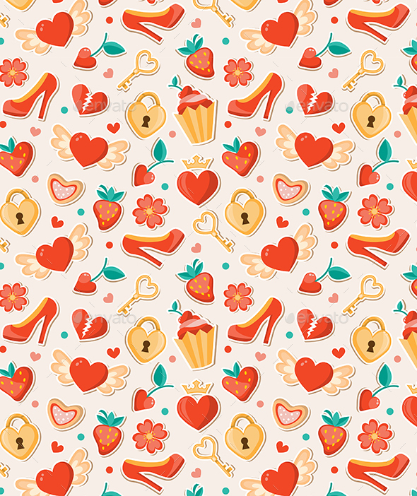 Romantic Valentine Pattern - Patterns Decorative