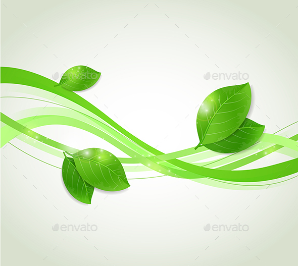 Abstract Background with Green Leaves - Backgrounds Decorative