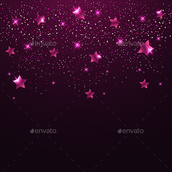 Pink Shining Stars - Backgrounds Decorative