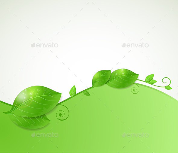 Background with Green Leaves - Backgrounds Decorative
