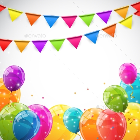 Color Glossy Balloons Background - Backgrounds Decorative