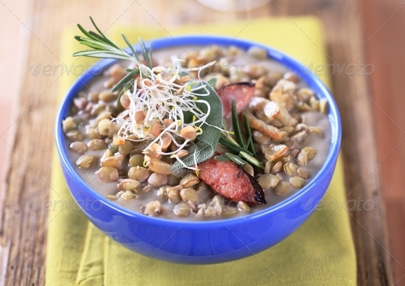 Lentil soup - Stock Photo - Images