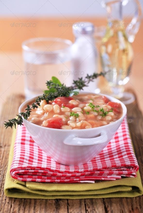 White bean stew - Stock Photo - Images