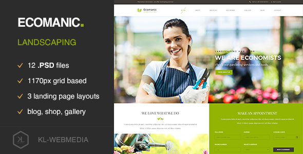 Ecomanic – Landscaping PSD Template