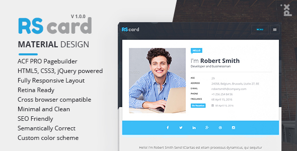 MultiProfile Resume CV & Portfolio WordPress