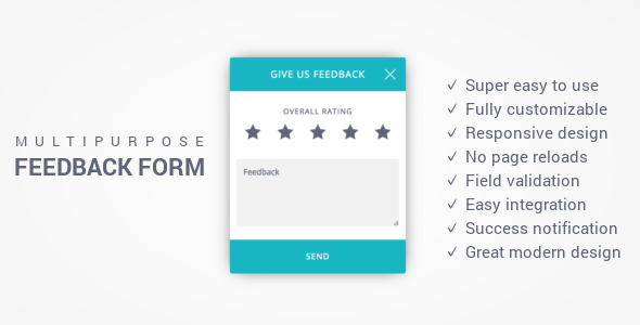 Feedback Form - Responsive Multi-Purpose Ajax Feedback Form - CodeCanyon Item for Sale
