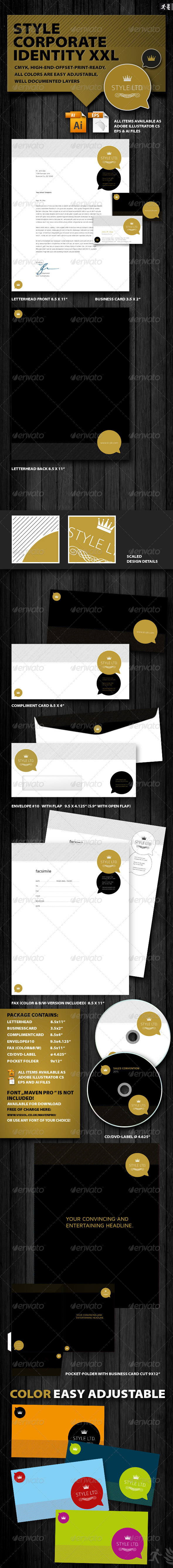 Style Corporate Identity XXL - Stationery Print Templates