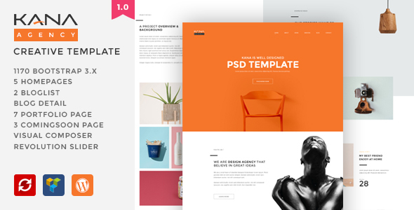 Kana – Creative Agency WordPress Theme