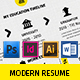 Modern Resume A4 / US Letter - GraphicRiver Item for Sale