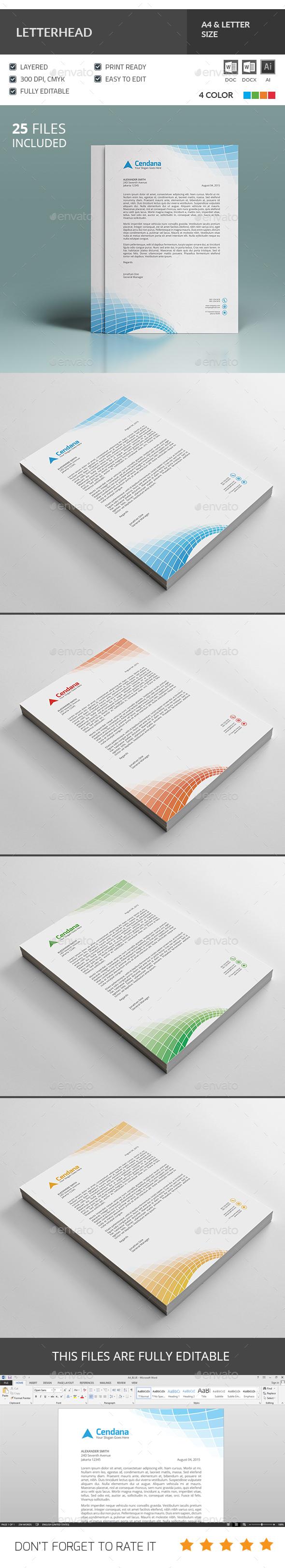 Letterhead Template - Corporate Business Cards