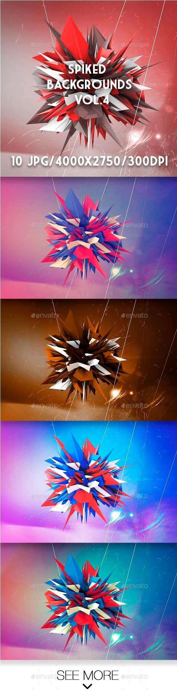 Spiked Backgrounds Vol.4 - Abstract Backgrounds