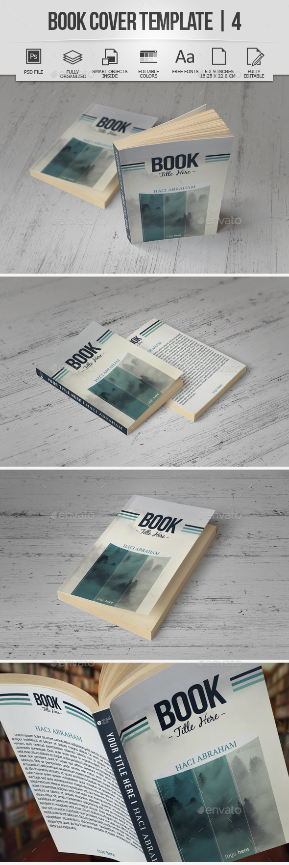 Book Cover Template | 4 - Miscellaneous Print Templates