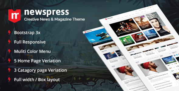 NewsPress - Bootstrap News/Magazine Template