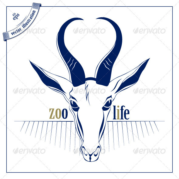 Antelope Deer Head Icon - Animals Characters