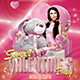 Sweet Valentine's Day Flyer Template & Facebook Cover - GraphicRiver Item for Sale