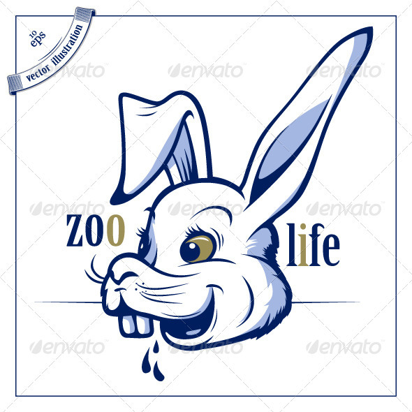 Funny Cartoon Rabbit Smile - Animals Characters