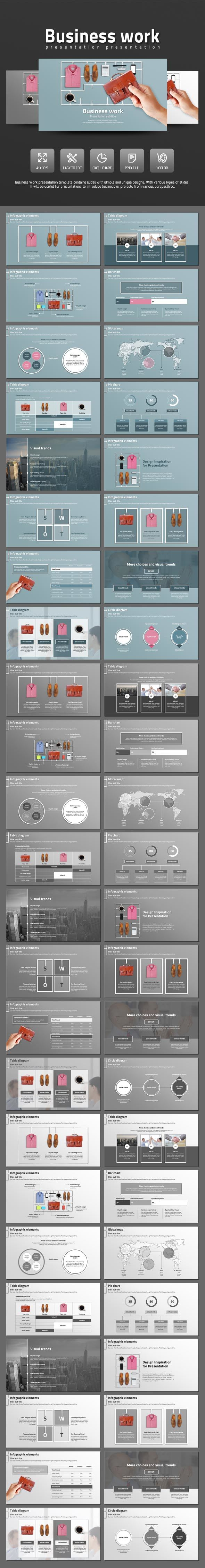 Business Work - PowerPoint Templates Presentation Templates
