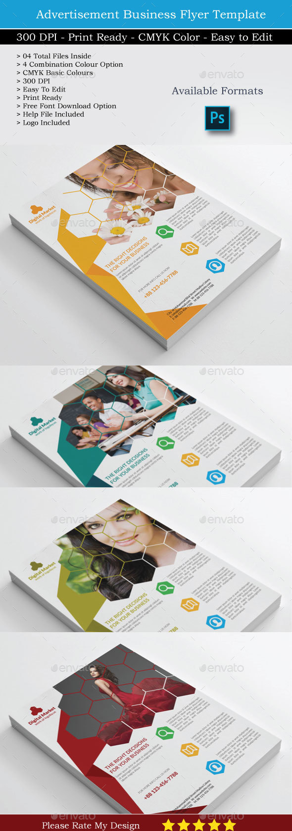 Digital Market Top Rated Corporate Flyer - Flyers Print Templates