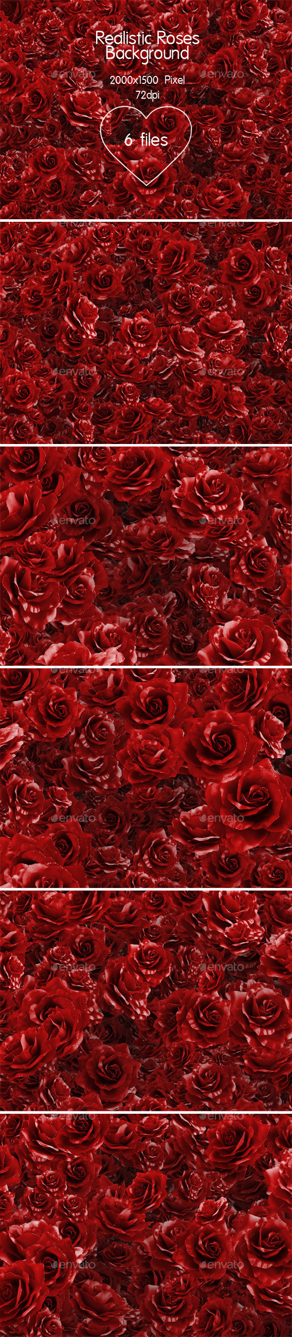 Realistic Roses Background - Backgrounds Graphics