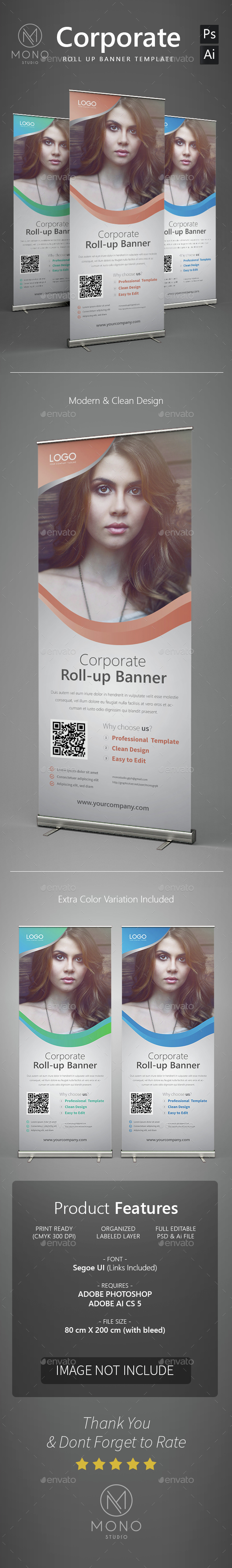 Corporate Roll Up Banner 3 - Signage Print Templates