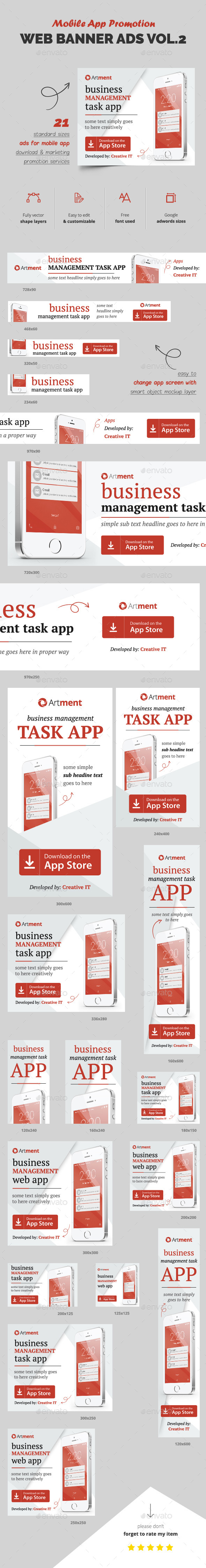 Mobile App Web Banner Ads - Banners & Ads Web Elements